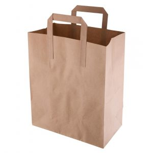Recycled Brown Paper Carrier Bags Medium