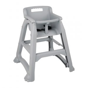 Bolero Grey PP Stackable High Chair