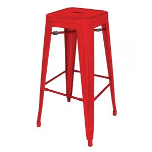 Red Steel Bistro High Stool 760mm (Pack of 4)