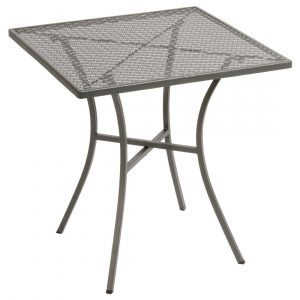 Bolero Grey Steel Patterned Square Bistro Table 700mm