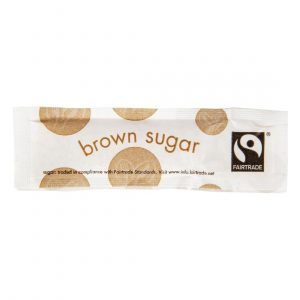 Vegware Compostable Fairtrade Brown Sugar Sticks