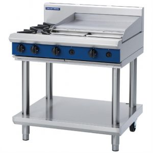 Blue Seal Evolution Cooktop 2 Open/1 Griddle Burner LPG on Stand 900mm G516B-LS/L