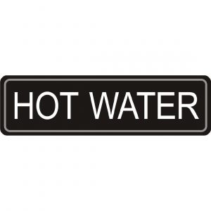 Adhesive Airpot Label - Hot Water
