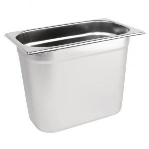 Vogue Stainless Steel 1/4 Gastronorm Pan 200mm