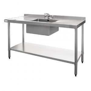 Vogue Stainless Steel Sink Double Drainer 1500mm